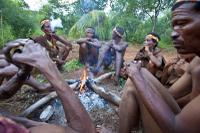 At a camp fire with Bushmen