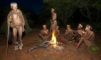 Bushmen Dancing at camp fire